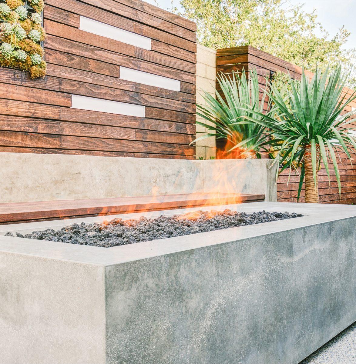 concrete fire pit