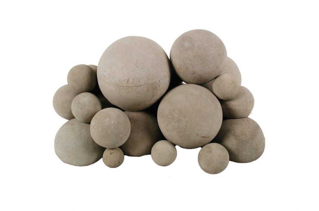 concrete fire balls