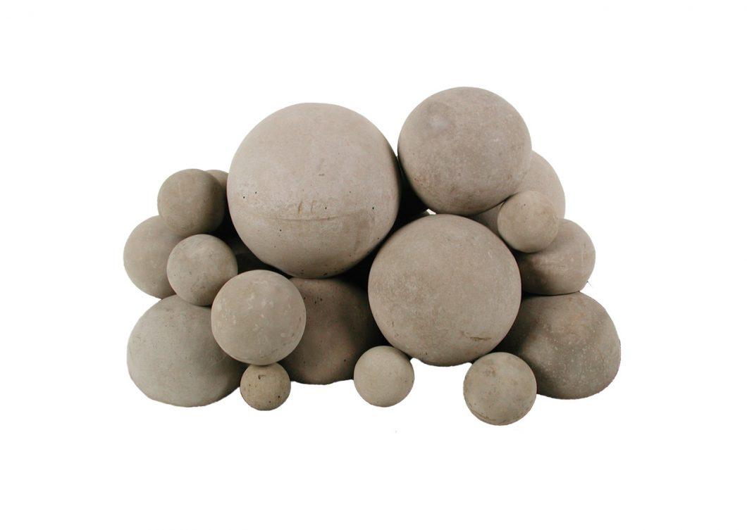 concrete fire balls